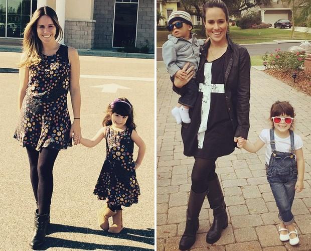 Mamãe estilosa! Fernanda adora combinar suas roupas com as dos filhos (Foto: Arquivo Pessoal)