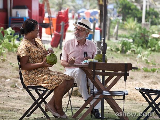Paulo José, Luisa Moraes  (Foto: Inácio Moraes / TV Globo)