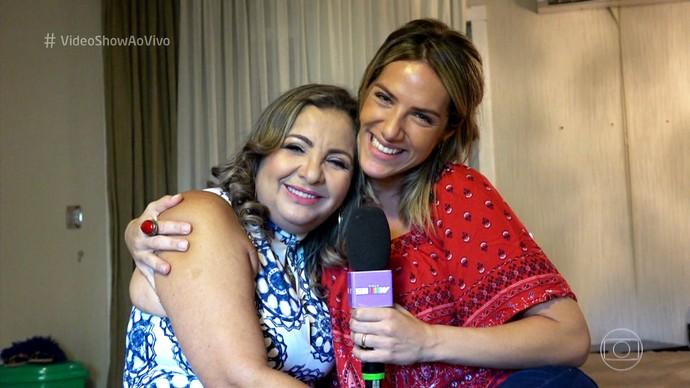 Giovanna Ewbank visita a casa da mãe de Wesley Safadão (Foto: TV Globo)