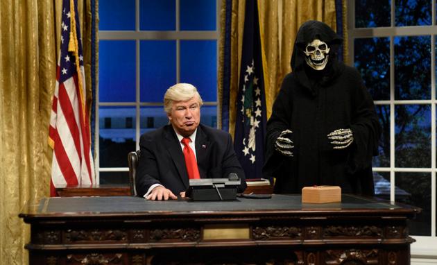 Nada de séries sobre terrorismo. Trump inspira humor (Will Heath/NBC)