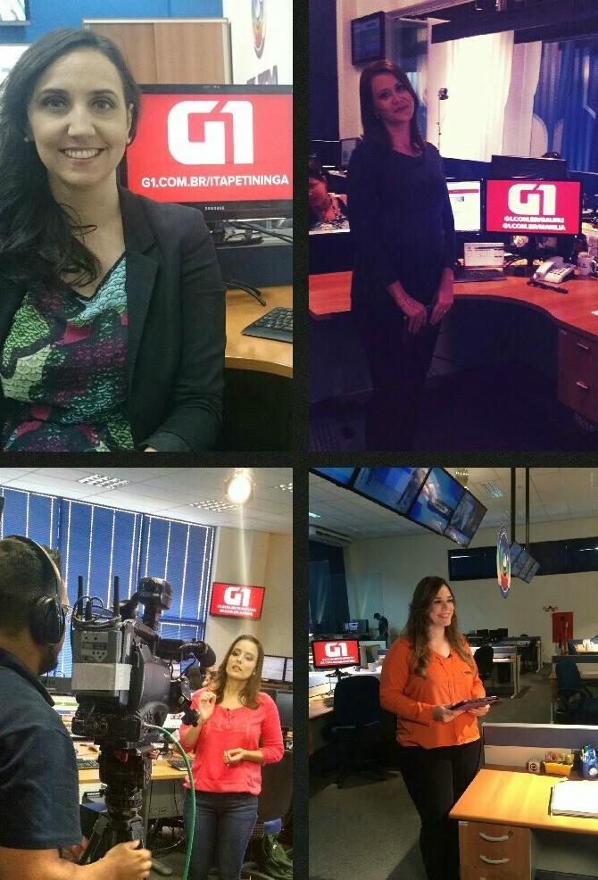 Jornalistas do G1 das regiões de Itapetininga, Bauru, Sorocaba e São José do Rio Preto participam ao vivo do TEM Notícias (Foto: Reprodução/G1)