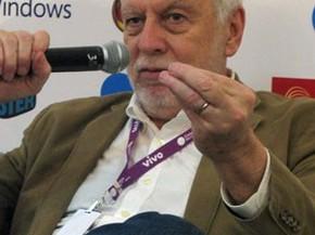 Nolan Bushnell, fundador da Atari, na Campus Party, em São Paulo. (Foto: Gustavo Petró/G1)