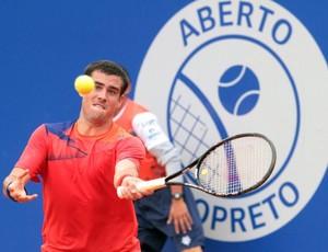 Argentino Guido Pella, número 99 da ATP, estreia com vitória em Rio Preto (Foto: Ricardo Boni / Divulgação)