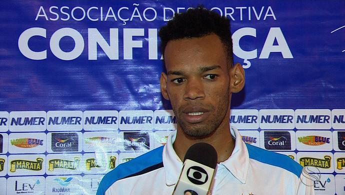 Anderson, zagueiro do Confiança (Foto: Reprodução/TV Sergipe)