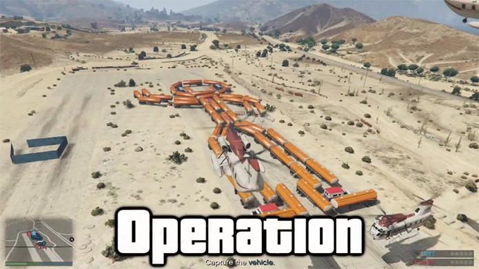 Clássico jogo Operação ganha uma versão divertida em GTA 5 (Foto: Reprodução: YouTube)