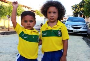 Sósias de Thiago Silva e David Luiz  (Foto: Daniel Cunha)