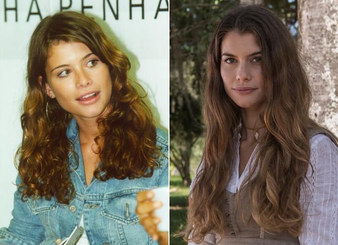 Em 2002, Alinne Moraes estreava na TV como Rosana em Coração de Estudante. Agora, ela retorna à TV em Além do Tempo após maternidade (Foto: Divulgação / TV Globo / Fábio Rocha / Gshow)
