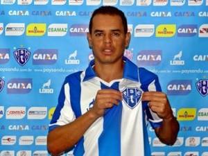 Jobinho foi apresentado como atleta do Paysandu (Foto: Ronaldo Santos/Ascom Paysandu)