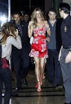 Gisele Bündchen vai com o marido, Tom Brady, à festa pós-desfile no SPFW