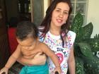 Jovem que já teve zika recebe Dilma em casa (Henrique Coelho / G1)