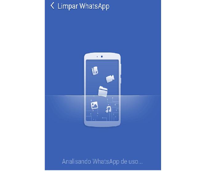 Aguarde o app analisar seu WhatsApp (Reprodução/Carol Danelli)