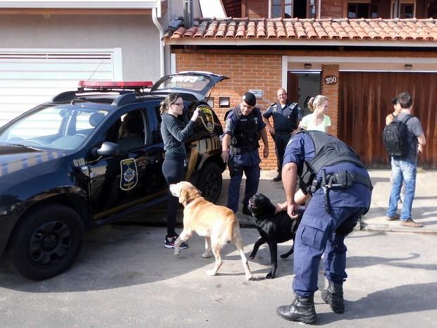 Cão labrador é recolhido por maus tratos em casa de Capivari (Foto: GM de Capivari/Divulgação)