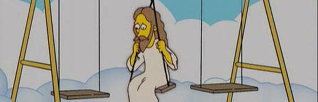 Jseus em 'Os Simpsons'; ele e Deus são os únicos personagens da série a ter cinco dedos (Foto: Divulgação/Fox)