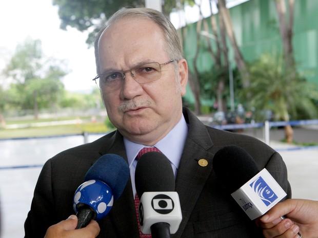 Ministro do STF Luiz Edson Fachin concede entrvista a jornalistas no Supremo (Foto: Fellipe Sampaio/SCO/STF)