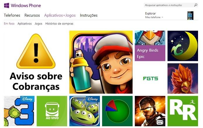 Windows Store removeu aplicativos por conta de segurança (Foto: Reprodução/Aline Jesus)