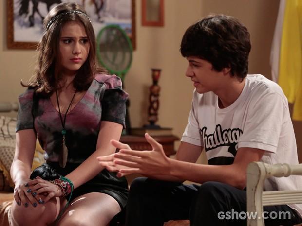 Ele diz que quer uma garota que tenha tempo para ele (Foto: Felipe Monteiro / TV Globo)