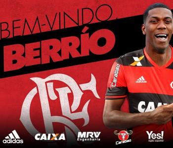 Berrío Flamengo (Foto: Reprodução / Twitter)