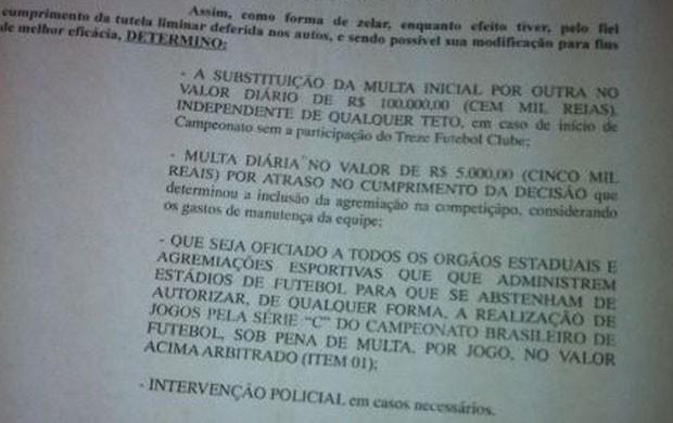decisão da justiça endurece punição contra a CBF sobre Série C (Foto: Reprodução)