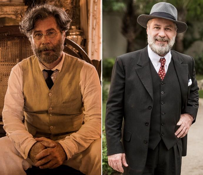 Nos últimos trabalhos na TV, Leopoldo Pacheco interpretou o doutor Emílio, na primeira fase de 'Velho Chico', e o pai de Candinho em 'Êta Mundo Bom!' (Foto: Globo/ Caiuá Franco e João Cotta)