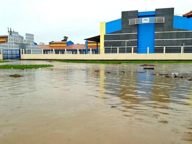 Seduc informou que estruturas de unidade foram afetadas (Foto: Seduc/reprodução)
