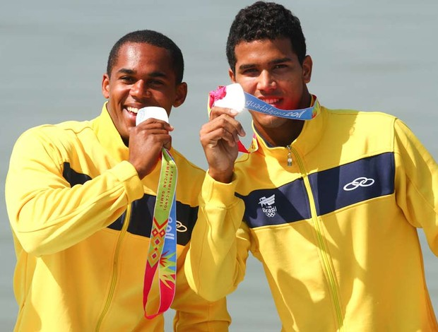 canoagem erlon silva e ronilson OLiveira pan 2007 (Foto: Ag&#234;ncia Vipcomm)