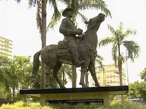 Monumentos existentes na Praça Cívica também devem ser revitalizados (Foto: Reprodução/TV Anhanguera)