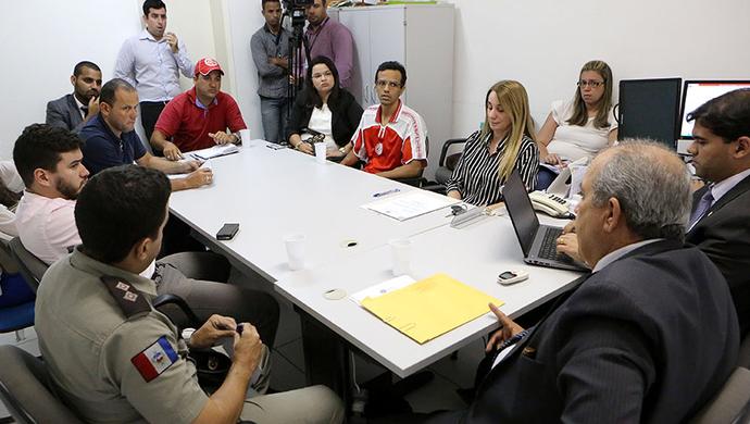Reunião com integrantes das organizadas foi realizado nesta terça (Foto: Caio Loureiro/ TJ-AL)