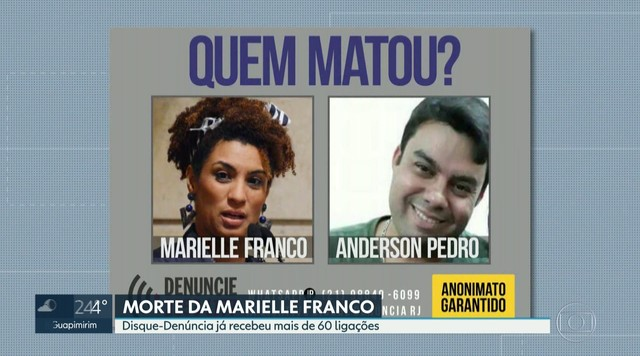Disque- Denúncia recebe mais de 60 ligações sobre a morte de Marielle Franco