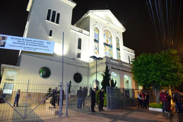 Missa de setimo dia Domingos Montagner (Foto: Leo Franco / AgNews)