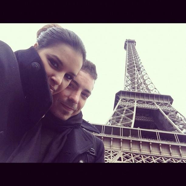 Mariana Rios e Di Ferrero em Paris, na França (Foto: Instagram/ Reprodução)