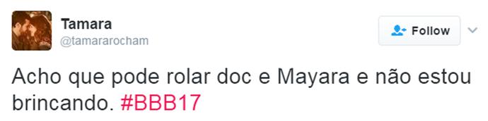 Tweet Marcos e Mayara (Foto: Reprodução da Internet)
