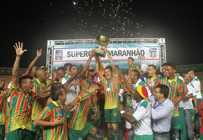 Sampaio domina, vence Náutico e é campeão da Super Copa Maranhão (Foto: Biaman Prado / O Estado)