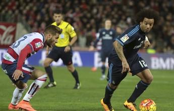 Real confirma lesão, e Marcelo vai desfalcar o Real Madrid contra Roma