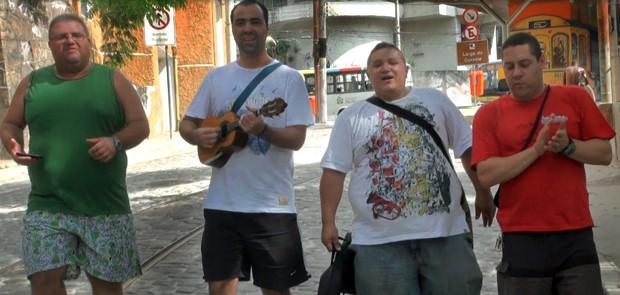 Os compositores do samba-enredo de Império (Foto: Arquivo Pessoal)
