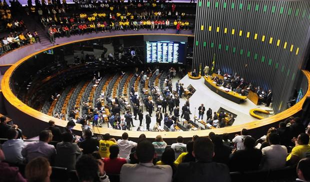 Da galeria do plenário, público observa votação de deputados na Câmara (Foto: Gustavo Lima/Ag.Câmara)