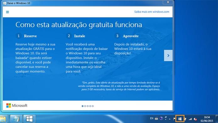 Acesse o Get Windows 10 no computador (Foto: Reprodução/Barbara Mannara)