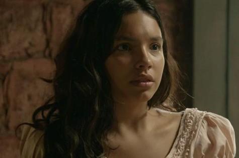 Gabriela Moreyra em cena de 'Escrava mãe' (Foto: Record)