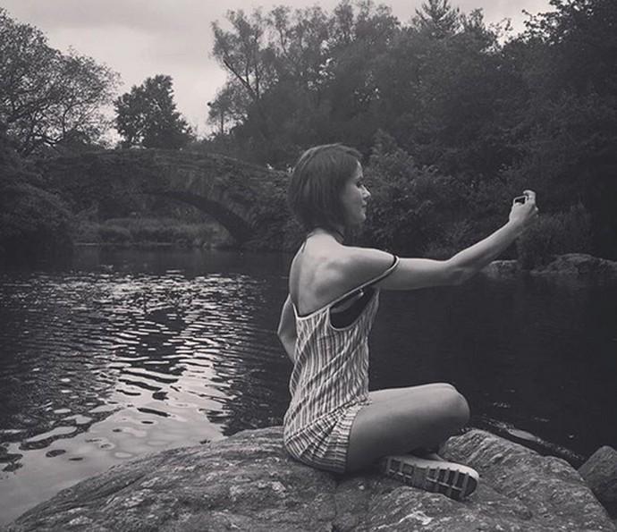 Fernanda de Freitas faz selfie durante viagem (Foto: Arquivo Pessoal)