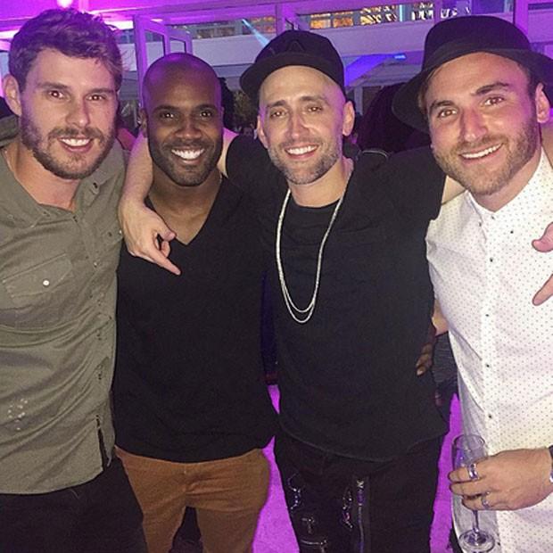 Bruninho, Rafael Zulu, Paulo Gustavo e Diogo Canto em festa na Zona Sul do Rio (Foto: Instagram/ Reprodução)