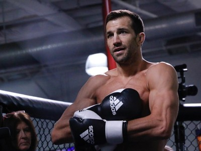 Luke Rockhold no treino aberto do UFC 199 (Foto: Evelyn Rodrigues)