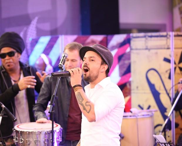 O cantor falou sobre seu mais recente trabalho  (Foto: Isabella Pinheiro/Gshow)