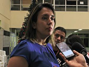 Delegada Tamara Albano disse que 2016 superou ano passado na apreensão de drogas  (Foto: Ísis Capistrano/ G1 AM)