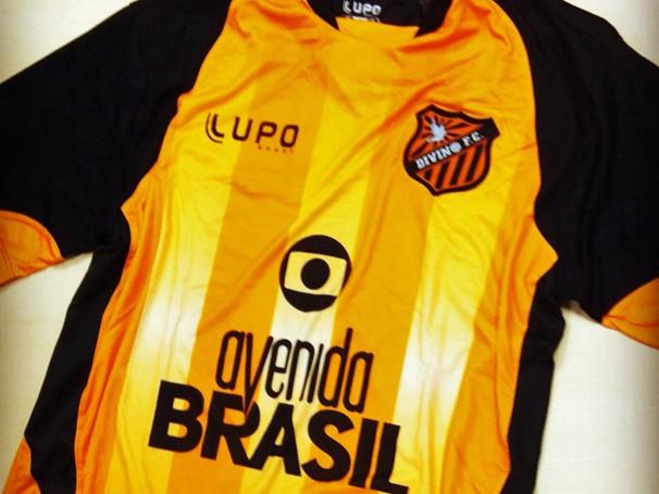 Concurso dá camisa do Divino Futebol Clube (Foto: Divulgação / Reprodução)