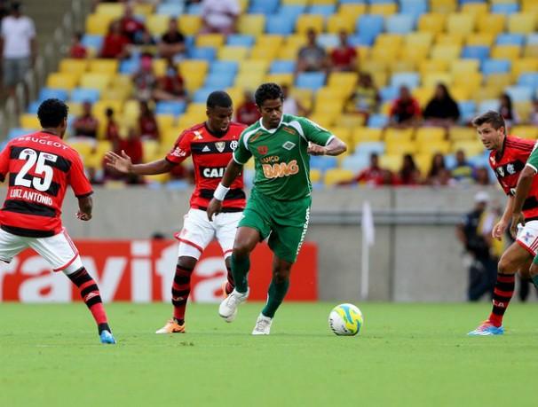 Na última rodada pela Taça Guanabara, o Flamengo fez 5 a 3 sobre o Cabofriense (Foto: Guilherme PInto / Agência O Globo / Reprodução Globoesporte.com)