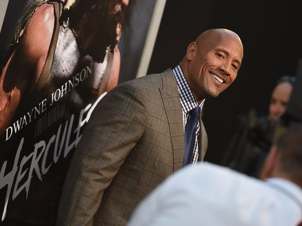 Dwayne Johnson em première em Los Angeles, nos Estados Unidos (Foto: Robyn Beck/ AFP)