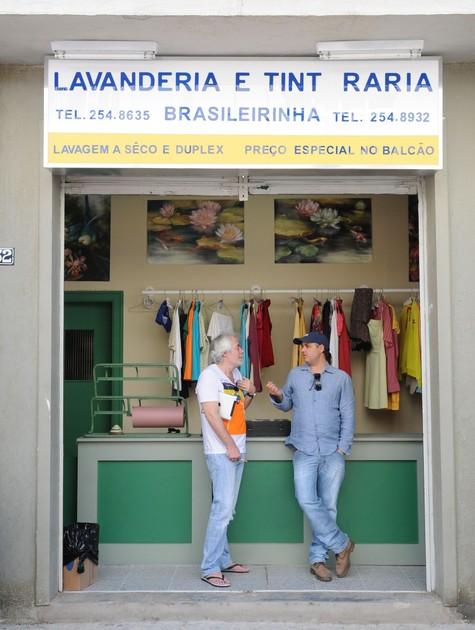Carlos Lombardi e Alexandre Avancini (Foto: Michel Angelo/ Record)
