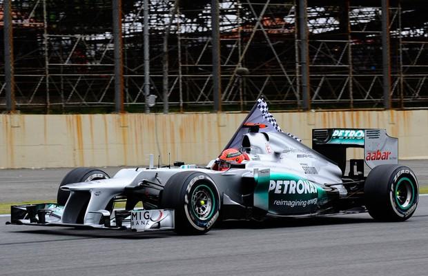 Michael Schumacher no adeus de 2012 (Foto: Divulgação)