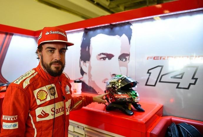 Alonso - capacete (Foto: Ferrari)