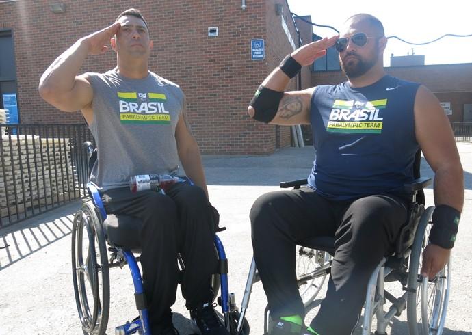 Jonas Licurgo e André Rocha atletismo Parapan Toronto (Foto: Flávio Dilascio)