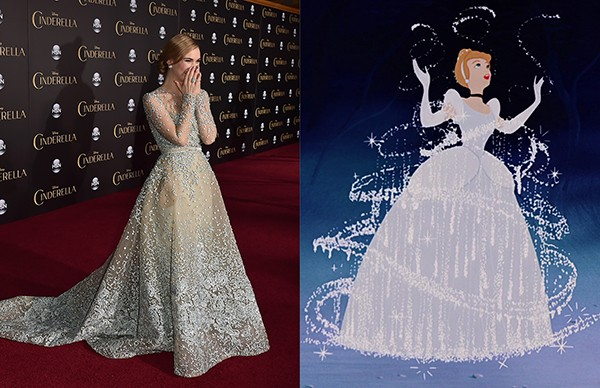 Lily James como Cinderela (Foto: Getty Images)